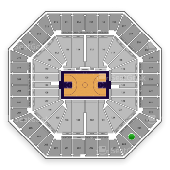 Sacramento Kings at Sleep Train Arena Section 224 View
