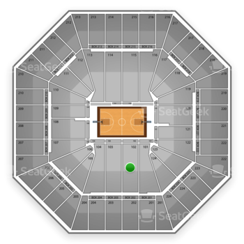 Sacramento Kings at Sleep Train Arena Section 102 View