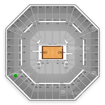 Sacramento Kings at Sleep Train Arena Section 206 View