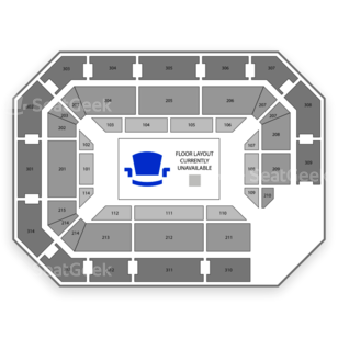 Ryan Center Seating Chart Concert