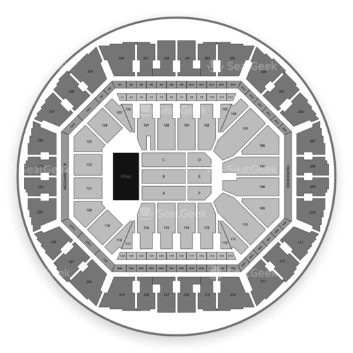 Oakland Arena Seating Chart Map Seatgeek
