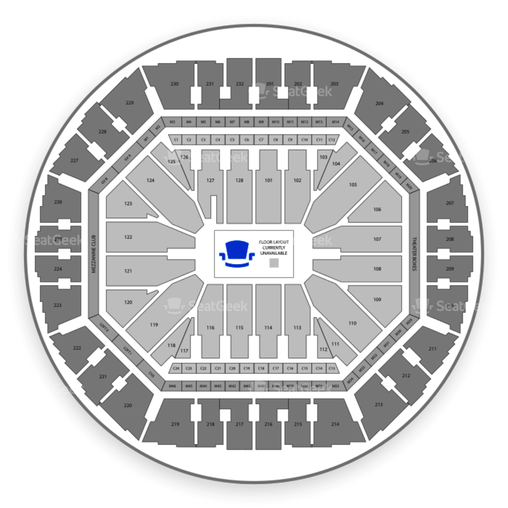 Oracle arena seating chart concert interactive map seatgeek