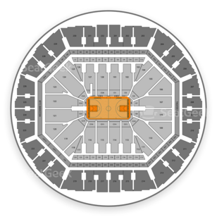 Oracle Arena Seating Chart Basketball