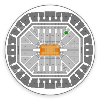 Golden State Warriors at Oakland Arena Section 104 View