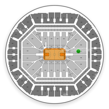 Golden State Warriors at Oakland Arena Section 107 View