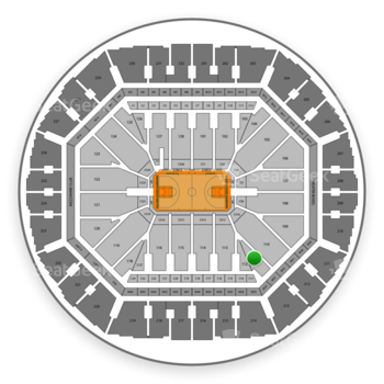 Golden State Warriors at Oakland Arena Section 111 View