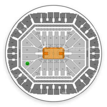 Golden State Warriors at Oakland Arena Section 120 View