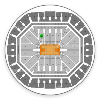 Golden State Warriors at Oakland Arena Section 127 View