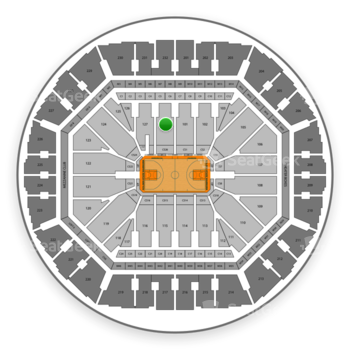 Golden State Warriors at Oakland Arena Section 128 View