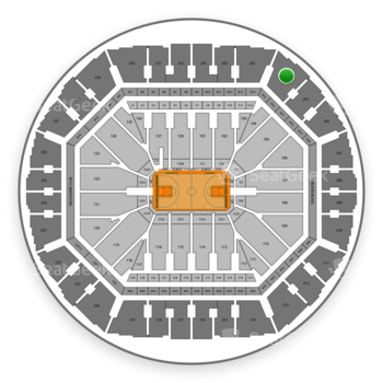 Golden State Warriors at Oakland Arena Section 204 View