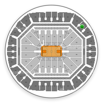 Golden State Warriors at Oakland Arena Section 205 View