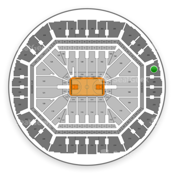 Golden State Warriors at Oakland Arena Section 207 View