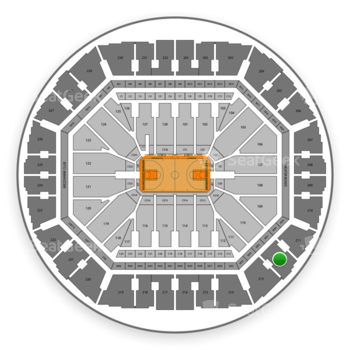 Golden State Warriors at Oakland Arena Section 212 View
