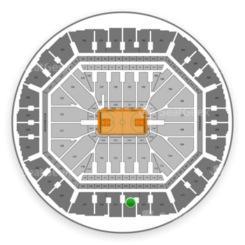 Golden State Warriors at Oakland Arena Section 216 View