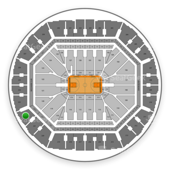 Golden State Warriors at Oakland Arena Section 222 View
