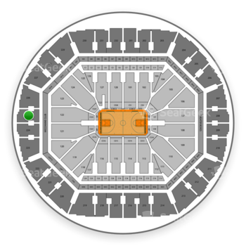 Golden State Warriors at Oakland Arena Section 225 View