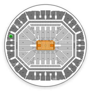 Golden State Warriors at Oakland Arena Section 226 View