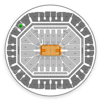 Golden State Warriors at Oakland Arena Section 228 View