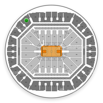 Golden State Warriors at Oakland Arena Section 229 View