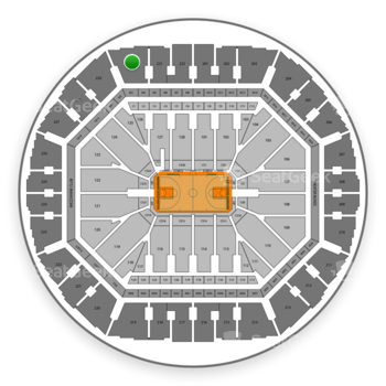 Golden State Warriors at Oakland Arena Section 230 View
