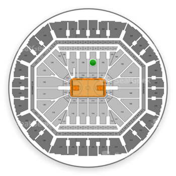 Golden State Warriors at Oracle Arena Section 101 View
