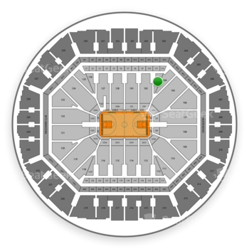 Golden State Warriors at Oracle Arena Section 103 View