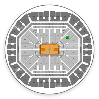 Golden State Warriors at Oracle Arena Section 105 View