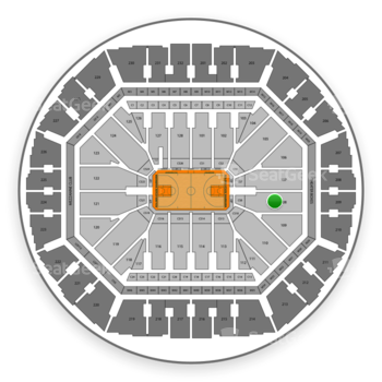 Golden State Warriors at Oracle Arena Section 108 View