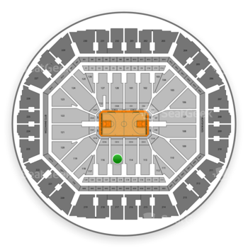 Golden State Warriors at Oracle Arena Section 115 View