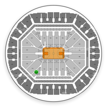 Golden State Warriors at Oracle Arena Section 118 View