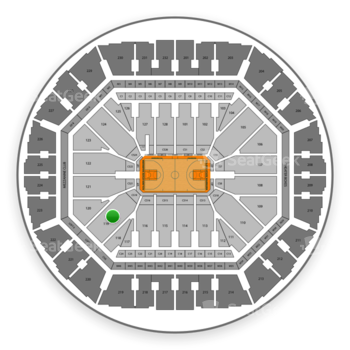 Golden State Warriors at Oracle Arena Section 119 View