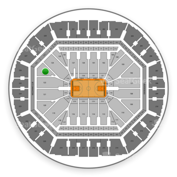 Golden State Warriors at Oracle Arena Section 123 View
