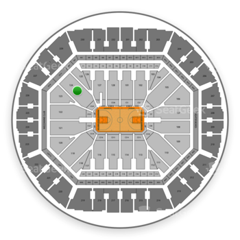 Golden State Warriors at Oracle Arena Section 124 View