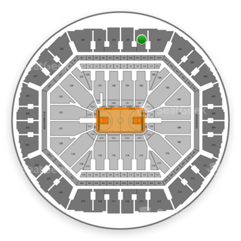 Golden State Warriors at Oracle Arena Section 202 View