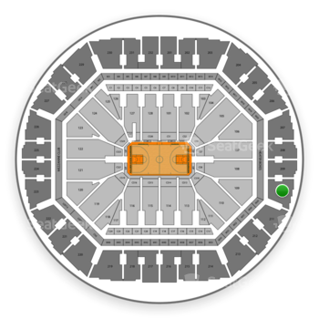 Golden State Warriors at Oracle Arena Section 210 View