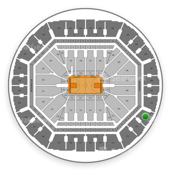 Golden State Warriors at Oracle Arena Section 211 View