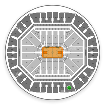Golden State Warriors at Oracle Arena Section 214 View
