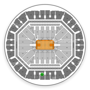 Golden State Warriors at Oracle Arena Section 217 View