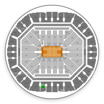 Golden State Warriors at Oracle Arena Section 218 View