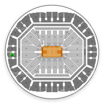 Golden State Warriors at Oracle Arena Section 224 View