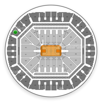 Golden State Warriors at Oracle Arena Section 227 View