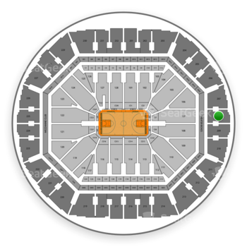 Golden State Warriors at Oracle Arena Section 208 View