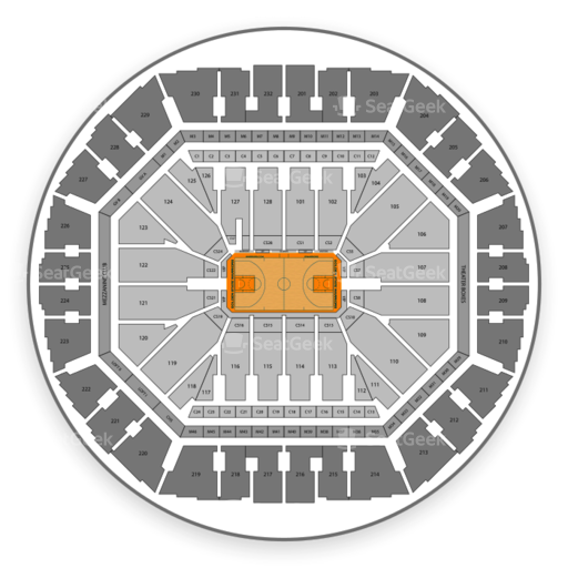 Oracle Arena Seating Chart & Map | SeatGeek