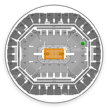Golden State Warriors at Oracle Arena Section 106 View