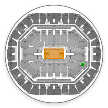 Golden State Warriors at Oracle Arena Section 109 View