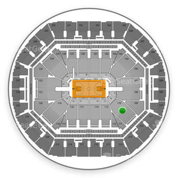 Golden State Warriors at Oracle Arena Section 110 View