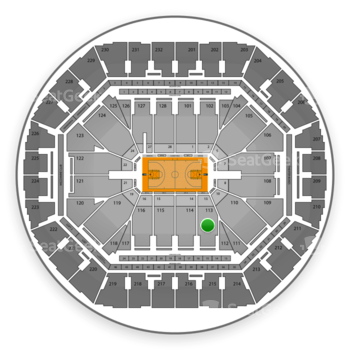 Golden State Warriors at Oracle Arena Section 113 View