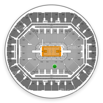 Golden State Warriors at Oracle Arena Section 114 View