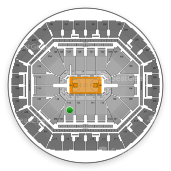Golden State Warriors at Oracle Arena Section 116 View