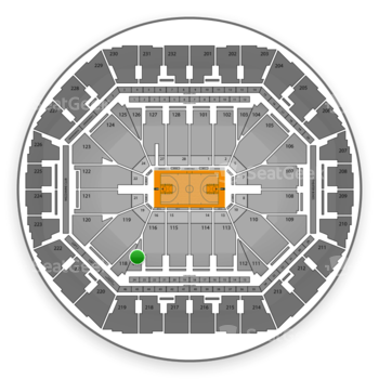 Golden State Warriors at Oracle Arena Section 117 View